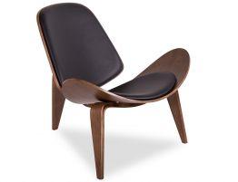 Pod Chair - Walnut - Black Pad