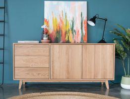 Copenhagen Sideboard Buffet - 165cm - Oak
