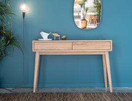 Copenhagen Console Table - 2 Drawers - Oak