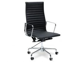 Iconic Executive Office Chair - High Back - Black Leather