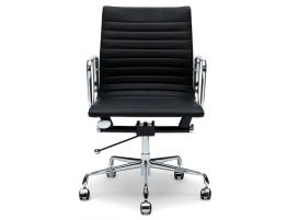 Iconic Management Office Chair - Low Back - Black Leather