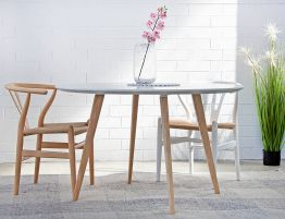 Aura Dining Table - 120cm Round - Natural
