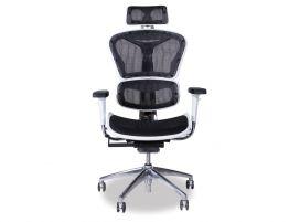 Vytas Black/White Office Chair - Headrest
