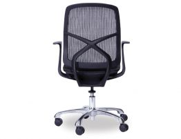 Chilli Black/Black Office Chair - Low Back