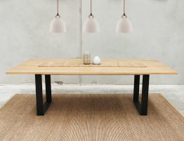 Odense Steel Leg Solid Oak Rectangle Dining Table By Bent Design Studio