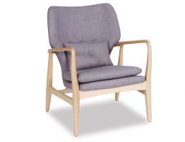 Linacre Lounge Chair  - Grey Fabric