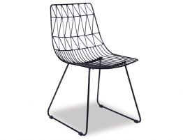 Amazing KAS   Modern Wire Dining Chair   Black