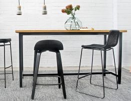 Toro Counter Top Bench - Natural - Black Steel Legs