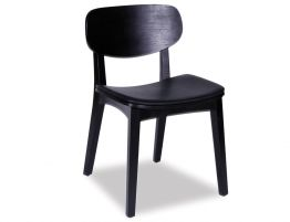 Saki Chair - Black - Black Pad