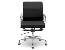 Iconic Soft Pad Office Chair - Low Back - Black Leather