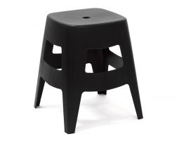 Como Low Stool - 45cm - Black