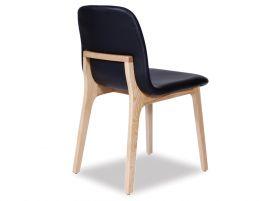Maxwell Chair - Black Pad - Natural