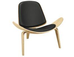 Pod Chair - Natural - Black Pad