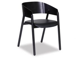 Sargood Arm Chair - Black - Black Pad