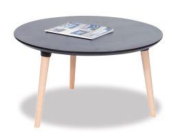 Massa Coffee Table - 80cm - Black - Natural