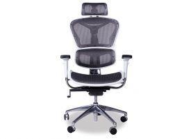 Vytas Grey/White Office Chair - Headrest
