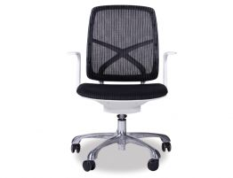 Chilli Black/White Office Chair - Low Back