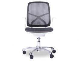 Chilli Grey/White Office Chair - Low Back