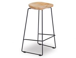 Kingston Stool - Black - Natural