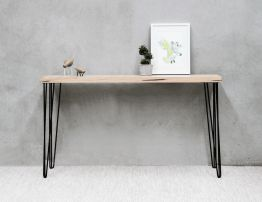 Bernie Console Table - Black - Natural