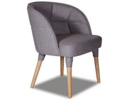 Cradle Armchair - Natural - Grey Fabric