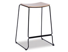 Ardent Stool - Black - Natural