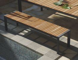Vydel Bench Seat - Outdoor - 190cm - Teak - Charcoal