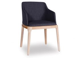 Kami Arm Chair - Natural - Charcoal Fabric