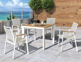 Vydel Table - Outdoor - 90cm x 90cm - White