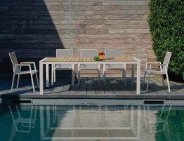 Vydel Table - Outdoor - 220cm x 100cm - White