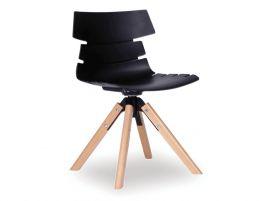 Feather Chair - Natural - Black Shell
