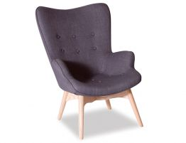 Basalt Lounge Chair - Charcoal Fabric