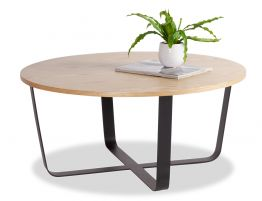 Kellie Coffee Table - Large - Black - Natural