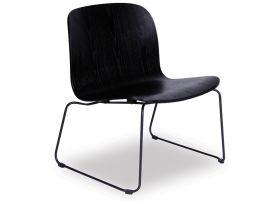 Flip Lounge Chair - Black Sled - Black