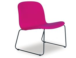 Flip Lounge Chair - Black Sled - Pink Fabric