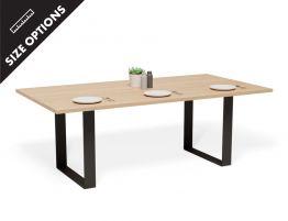 Wilba Table - Natural - Black Steel Box End