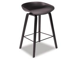Kobe Stool   Black American Ash Frame And Black Shell Seat