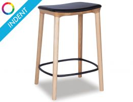 Romy Stool - Natural - Black Pad