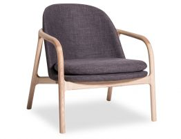 Leni Lounge Chair  - Charcoal Fabric