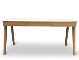 Pinto Desk - Natural - White