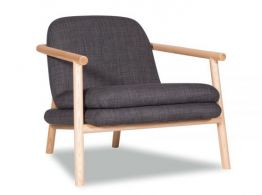 Bene Lounge Chair  - Charcoal Fabric