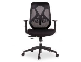 Trieste Office Chair - Black - Black Padded Seat