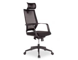 Mokum Office Chair with Headrest - Black - Black Padded Seat