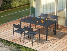 Halki Table - Outdoor - 160cm x 90cm - Charcoal