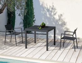 Halki Table - Outdoor - 90cm x 90cm - Charcoal