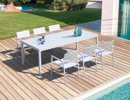 Halki Table - Outdoor - 220cm x 100cm - White