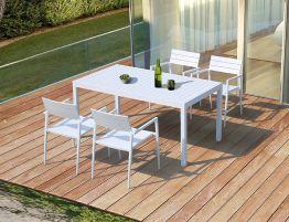 Halki Table - Outdoor - 160cm x 90cm - White