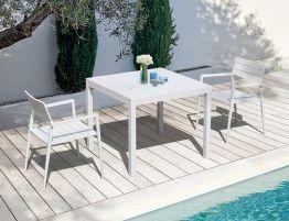 Halki Table - Outdoor - 90cm x 90cm - White