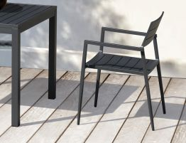 Halki Chair - Outdoor - Charcoal