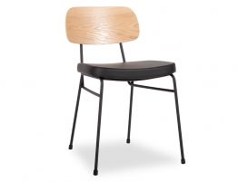 Archie Chair - Black - Oak - Black Pad